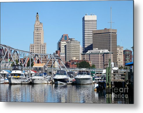 Providence Metal Print featuring the photograph Providence Rhode Island Skyline by Denis Tangney Jr
