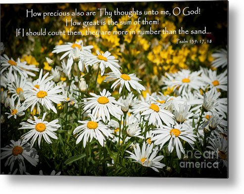 Daisy Metal Print featuring the photograph Psalm 139 by ArtissiMo Photography