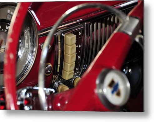 Antic Car Metal Print featuring the photograph Push Buttons by David Lee Thompson