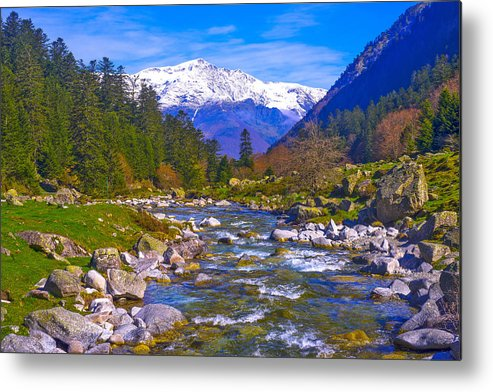 France Metal Print featuring the photograph Pyrenees Lutour Torrent by Jean-luc Bohin