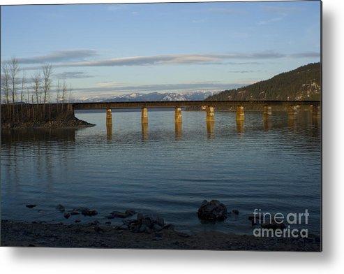 Bridge Metal Print featuring the photograph Railroad Bridge Over The Pend Oreille by Idaho Scenic Images Linda Lantzy