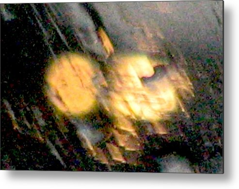 Lights Metal Print featuring the photograph Rain 1 by Stephen Hawks