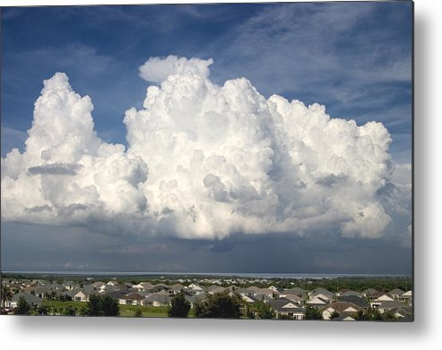 Clouds Metal Print featuring the photograph Rain Clouds Over Lake Apopka by Carl Purcell