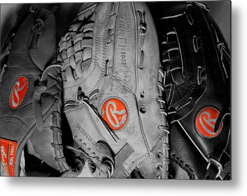 Mitt Metal Print featuring the photograph Rawlings In Red by Jame Hayes