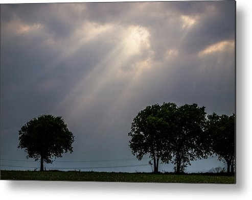 Clouds Metal Print featuring the photograph Rays Of Light by Ken Hurst