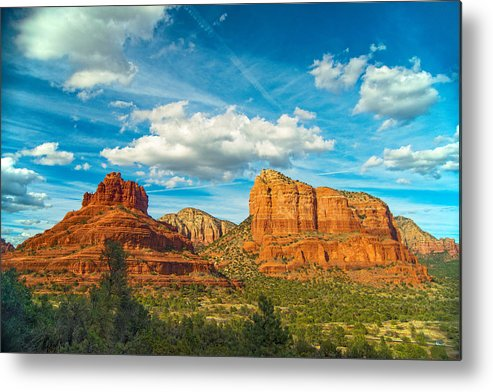 Sedona Metal Print featuring the photograph Reach Up And Touch The Sky by Steven Barrows