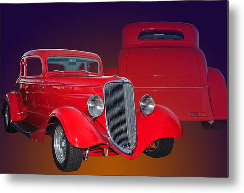Ford Metal Print featuring the photograph Red Ford by Jim Hatch