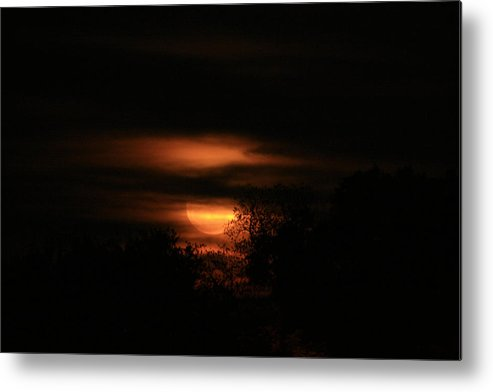 Full Moon Metal Print featuring the photograph Red Moon Rising by Danean Ermentrout