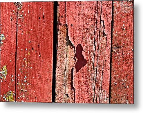 Barn Metal Print featuring the photograph Red Peeling Paint- Fine Art by KayeCee Spain