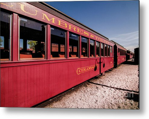 Transportation Metal Print featuring the photograph Red Rail Cars by Robert Frederick