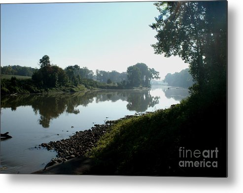 Landscape Metal Print featuring the photograph Red River Of The North by Steve Augustin