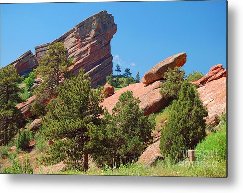 Red Rocks Metal Print featuring the photograph Red Rocks Landscape by Merrimon Crawford
