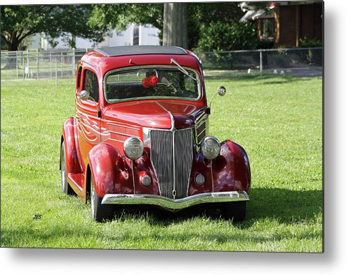Metal Print featuring the photograph Red Rod by Jim Simms