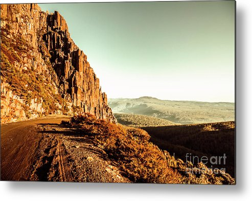 Tasmania Metal Print featuring the photograph Red Rural Road by Jorgo Photography - Wall Art Gallery