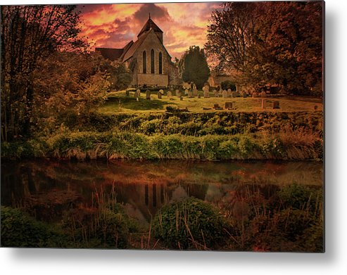 Godmersham Metal Print featuring the photograph Reflected In The Stour by Dave Godden