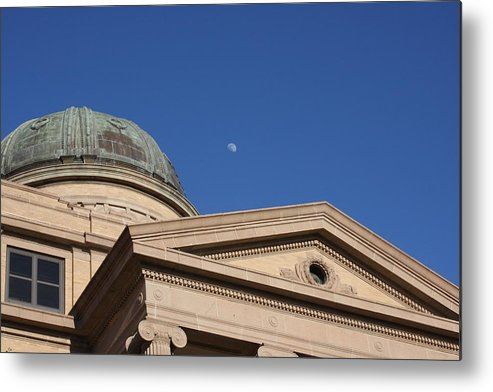 Moon Metal Print featuring the photograph Reflecting Round by Jonathan Kotinek