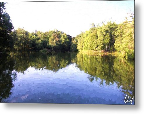 Nature Metal Print featuring the painting Reflecting Seasons by Cody Cunningham
