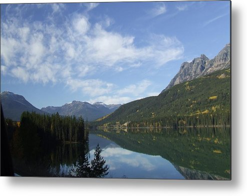 Reflection Metal Print featuring the photograph Lake Reflection by Tiffany Vest