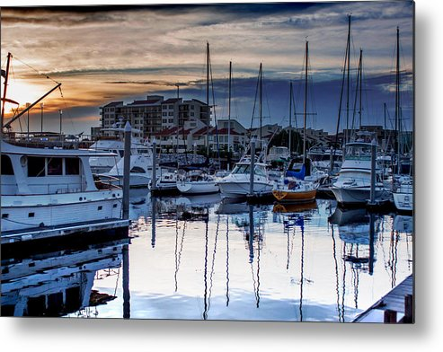 Reflections At Sunset Metal Print featuring the photograph Reflections At Sunset by Mechala Matthews
