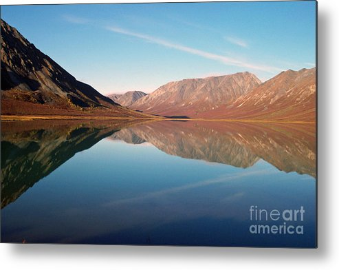 Lake Metal Print featuring the photograph Mountains Reflected On A Beautiful Lake by Denise McAllister