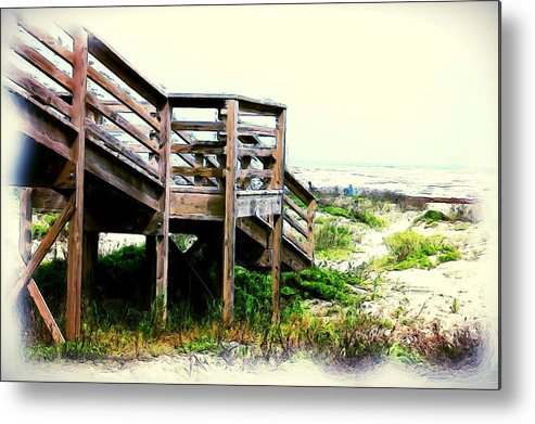Blue Metal Print featuring the painting Relax by Bobby Blanton