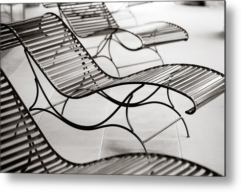 Chair Metal Print featuring the photograph Relaxation by Marilyn Hunt