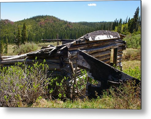 Ghost Towns Metal Print featuring the photograph Remnants Of Caribou by Cynthia Cox Cottam