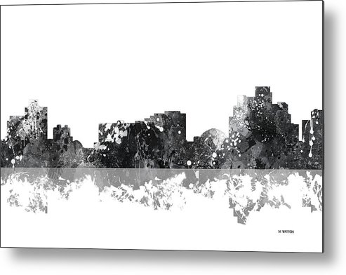 Reno Nevada Skyline Metal Print featuring the digital art Reno Nevada Skyline by Marlene Watson