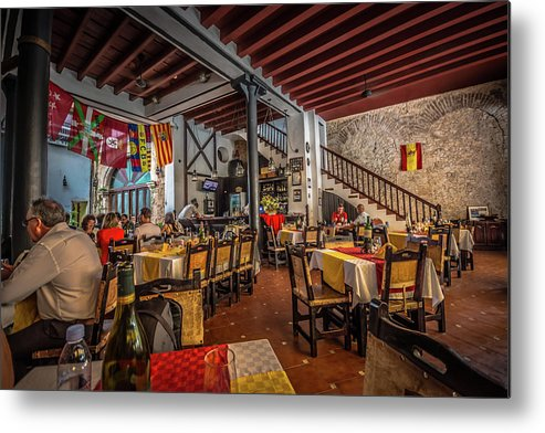 Havana Metal Print featuring the photograph Restaurant by Bill Howard