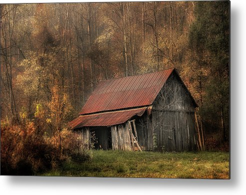 Barn Metal Print featuring the photograph Resting Place by Mike Eingle