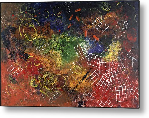 Abstract Metal Print featuring the painting Reunion by Dominique Boutaud