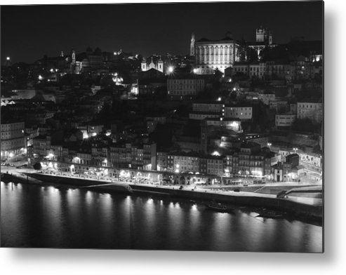Porto Metal Print featuring the photograph Ribeira By Night by Borys Szefczyk