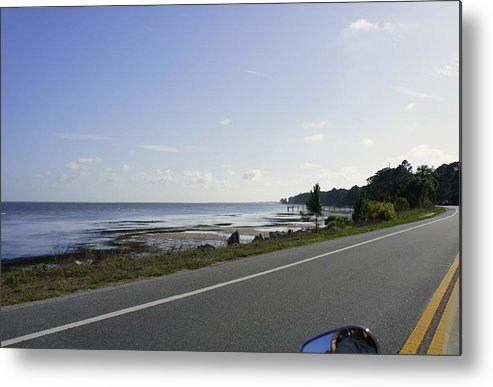 Pensacola Beach Metal Print featuring the photograph Riding Along The Pandhandle by Laurie Perry
