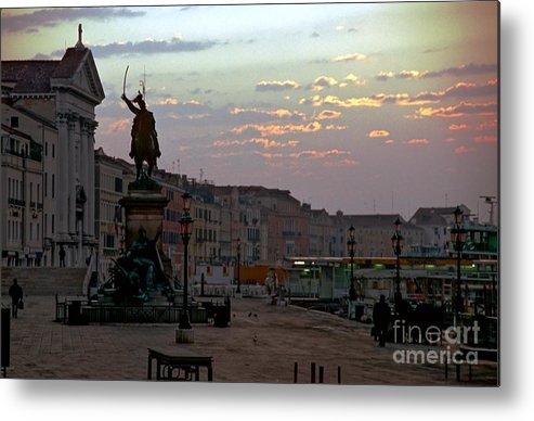 Venice Metal Print featuring the photograph Riva Schiavoni In Venice In The Morning by Michael Henderson