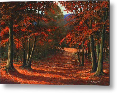 Landscape Metal Print featuring the painting Road To The Clearing by Frank Wilson