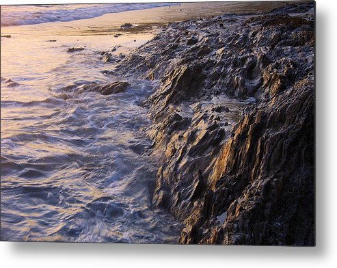 Beach Metal Print featuring the photograph Rock by Viktor Savchenko