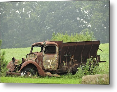 Truck Metal Print featuring the photograph Rocks B Us 1 by David Arment