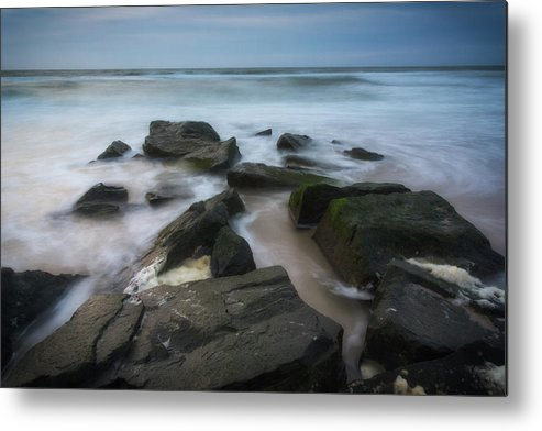 New Jersey Metal Print featuring the photograph Rocky Coast Of New Jersey by Roland Hall