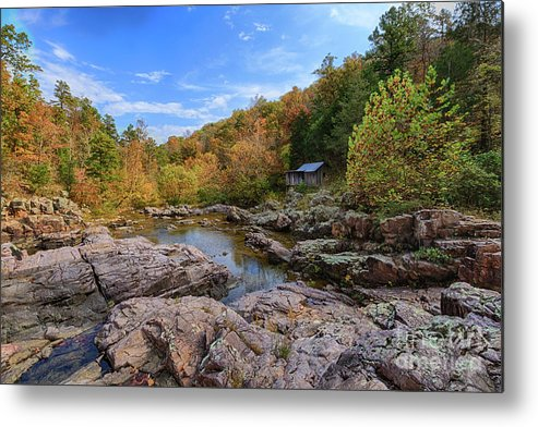 Mill Metal Print featuring the photograph Rocky Falls Near Klepzig Mill by Terri Morris
