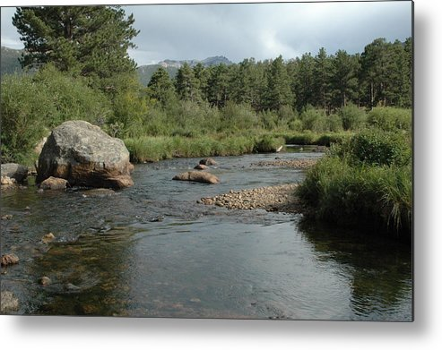 Nature Metal Print featuring the photograph Rocky Mountain Stream by Kathy Schumann