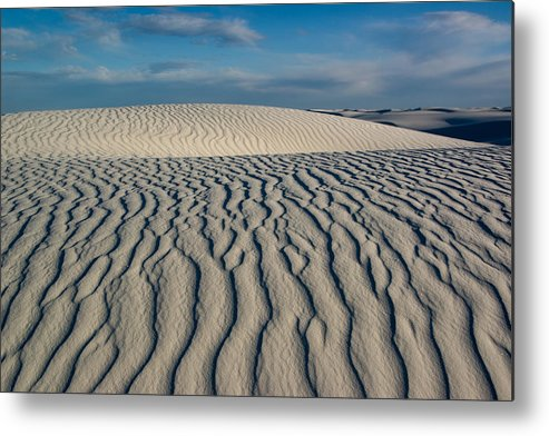 White Sands Metal Print featuring the photograph Rolling Dunes by Bob Bailey