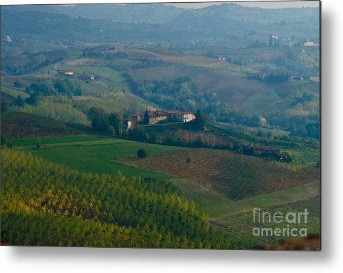 Italy Metal Print featuring the photograph Rolling Hills Of The Piemonte Region by Carl Jackson