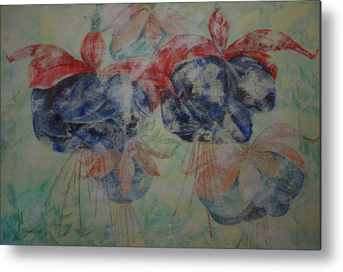 Flowers Metal Print featuring the painting Romance 3 by Harri Spietz