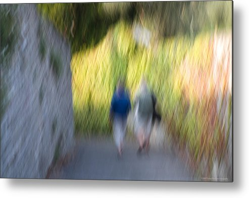 Italy Metal Print featuring the photograph Romantic Walking by Luigi Barbano BARBANO LLC