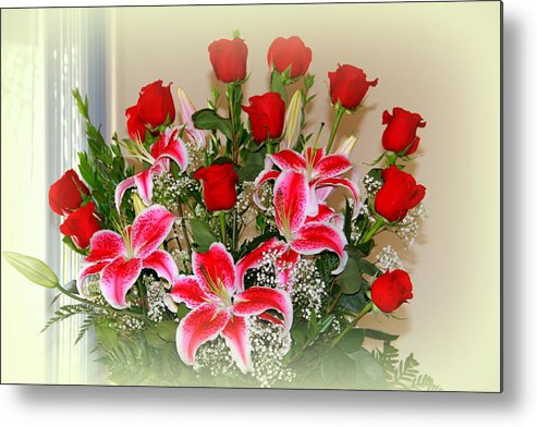 Rose Metal Print featuring the photograph Rose's by Athala Carole Bruckner