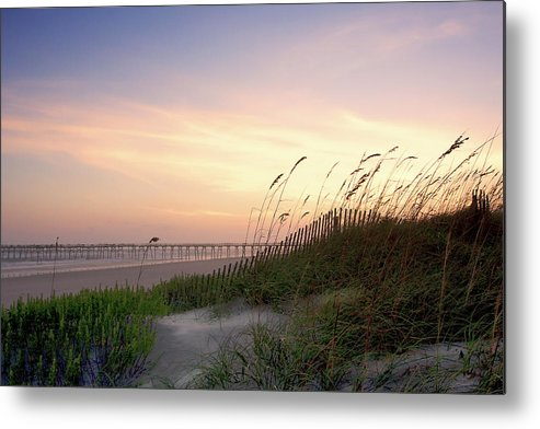Atlantic Beach Metal Print featuring the photograph Rosey Sunset 1 by Alan Hausenflock