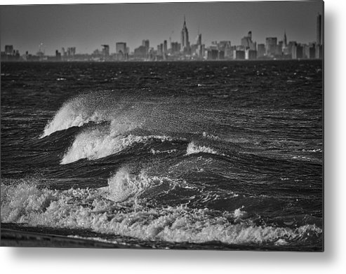 Photography Metal Print featuring the photograph Rough Water by Raven Steel Design