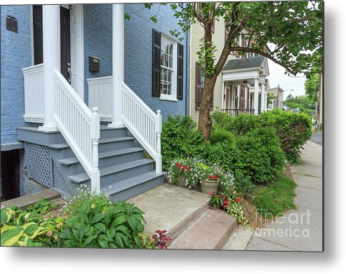Finger Lakes Metal Print featuring the photograph Row Of Historic Row Houses by Edward Fielding