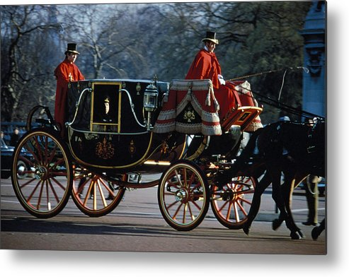 Coach Metal Print featuring the photograph Royal Carriage In London by Carl Purcell