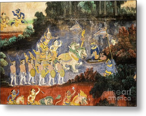 Cambodia Metal Print featuring the photograph Royal Palace Ramayana 08 by Rick Piper Photography
